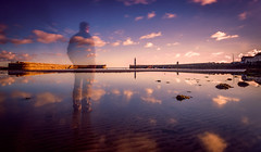 Nearly Time To Go   [Explored] (RonnieLMills) Tags: long exposure early morning sunrise dawn new day sunday 10 stop filter water reflections clouds lighthouse donaghadee county down northern ireland onlyhalfthere semi silhouette faded see through ghostly apparition explore explored 21016 76 autofocus