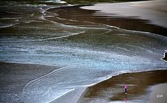 Pintura abstrata! (puri_) Tags: mar ondas gua verde espuma branca praia areia silhueta reflexo alentejo portugal picmonkey