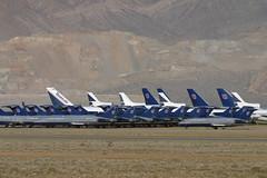 N7292U-1-KVCV-10MAR2003 (Alpha Mike Aviation Photography) Tags: united airlines boeing 727 n7292u n7262u victorville vcv kvcv