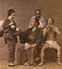 Japanese Tea House (SSAVE w/ over 6.5 MILLION views THX) Tags: japan japanese lifestyle ca1870 fundoshi teahouse geisha