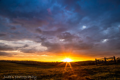 Delicious autumn sunset (judethedude73) Tags: fall sun sky skies colours color colors colourful dusk sheffieldpark landscapephotography nature silhouette