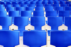 Blue rows. (Sean Hartwell Photography) Tags: blue blueazul chairs row seating repeating pattern