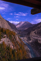 View from Altit Fort, Hunza Valley, Gilgit Baltistan, Pakistan. (Sherazdionysus) Tags: mountains landscape canonphotography hunzavalley valley lifeinthemountians trees ancient monuments