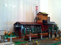 LEGO Diorama (pangelovmarinov) Tags: lego fabrica mill carbon diorama fabric industry train hopper industria zavod railway eisenbahn fabrik kohlenstoff