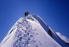 In vetta alla Punta Kurz (giorgiorodano46) Tags: luglio1997 july 1997 giorgiorodano analogic alpi alps alpes alpen alpipennine penninealps alpinism summit vetta neve snow summer mountaineering alpinismo alpesvalaisannes italy switzerland suisseromande valpelline prarayer valdhrens arolla