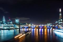 untitled (Homemade) Tags: sonydscrx100 london londonist thames water night shard southwarkbridge towerbridge cheesgrater walkietalkie cityoflondon squaremile