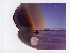 Out of the Surf (Celina Innocent) Tags: expired polaroid 689 packfilm land camera polaroidweek instant surf ocean waves oregoncoast surfer
