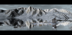 It's really cold outside (Jos Loll) Tags: winter mountains lake ice glacier mill