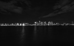 Boston Skyline BW (nickaivazian) Tags: canon canon7d sigma photography wideangle camera skyline landscape landscapephotography
