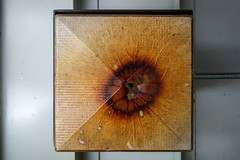 Eye see you (Chris Huddleston) Tags: lamp abstract burned cover melted light