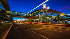 Bus Stop (K.H.Reichert) Tags: lichter nightshot architektur flughafen bridge unterfhrung airport brcke strase underpass night nachtfoto countydublin irland ie