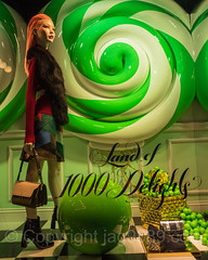 """Land of 1000 Delights""  2016 Holiday Window Display at Saks Fifth Avenue, New York City (jag9889) Tags: saksfifthavenue jag9889 usa mannequin dress reflection fashion fifthavenue outdoor 2016 christmas holiday 20161201 candy midtown windowdisplay woman window display green couture newyork newyorkcity manhattan 5thavenue departmentstore flagship ny nyc saks storewindow unitedstates unitedstatesofamerica us"