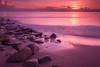 Batu Buruk Beach, Kuala Terengganu, Malaysia (imran talib) Tags: batuburuk pantai beach batu buruk kuala terengganu malaysia landscape 1000d kitlens 18mm sunrise orange purple yellow rocky wave ocean seascape hour hue water sea