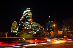 Beijing Wangjing SOHO at Night (fesign) Tags: architecture beijing buildingexterior business businessfinanceandindustry capitalcities car chinaeastasia city citylife cityscape colourimage development downtown famousplace financialdistrict horizontal illuminated internationallandmark lighttrail longexposure modern nightshot nopeople officeblockexterior outdoors photography skyscraper soho speed streetlights traffic transportation traveldestinations