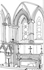 The army chapel, western aisle of the north transept, York Minster