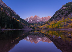 Classic Reflections (tobyharriman) Tags: 2015 5dmarkiv elkmountains fall mkiv adventure art artist aspen autumn canon clear co color colorado custom fineart landscape maroonbells mountain mountains october outdoor photographer photography photos pictures prints roaringfork sanfrancisco timelapse tobyharriman trees valley yellow