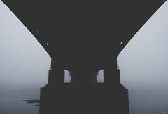 Under The Bridge (MathPho) Tags: bridge black whit bw canon france lightroom