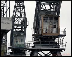 Old Cranes (zweiblumen) Tags: cranes derelict princeswharf floatingharbour bristol england uk canoneos50d canon70300mm zweiblumen mshed