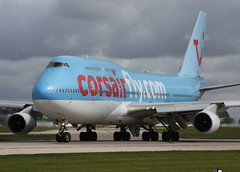 F-HSEX Boeing 747-422 Manchester 26.5.2009 (Retro Jets) Tags: corsair b744 man