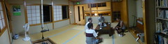 Hostel lounge panorama (Stop carbon pollution) Tags: japan  honshuu