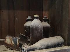 ...a little dust on the bottle... (cliffordswoape) Tags: 1812 history cannoncounty tennessee shelf readyville mill aged seasoned forgotten bottle dust