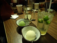 Vanilla and Green Tea Ice Cream (manchesterunitedbowie) Tags: ice cream icecream vanilla greentea desert food meal yummy delicious lemonlimebitters drinks