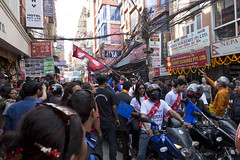 Nepal Sambat New Year in Thamel Kathmandu