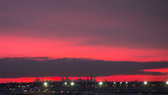 Sunrise from Chicago O'Hare (RW Sinclair) Tags: carl dscrx100 ord rx100 sony variosonnar zeiss airport chicago city dawn digital morning ohare pink skyline skyscraper sunrise