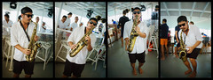 Solo (aistora) Tags: music musician solo improvisation sax saxophone dance chillout chill lounge smooth jazz dj mix boat yacht catamaran party fun leisure relax event hype island islands islandhopping cruise thailand phuket coconut sony alpha ilce a6000 kit zoom 1650mm sel1650pz epz1650mmoss lightroom collage mosaic composite multiframe story action