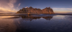 Stokksnes (Toni_pb) Tags: tonipou travel trip islandia iceland mountain montaa nikon nature nubes clouds d810 nikkor1424f28 landscape paisaje vestrahorn stokksnes reflejo mirror panorama panoramica