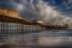 Palace Pier basking in sun (lloydich) Tags: brighton palace pier basking sun sunshine sea clouds english channel seaside british water sunset
