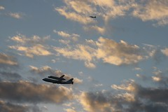 Discovery Silhouetted (Flying Jenny) Tags: space sca farewell shuttle departure discovery flyover orbiter ov103