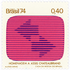 Brazil postage stamp: tv screen (karen horton) Tags: pink brazil television square design tvstation stamp communication arrows postage brasil74 acarvo fdeassischateaubriand