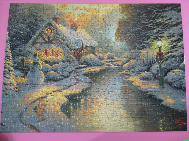 2012.04.04 500 pcs Christmas Evening - THOMAS KINKADE  (8)