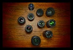 lens collection (Nils Svensson) Tags: macro ex lensbaby 35mm canon lens four 50mm minolta sweden flash 14 sigma olympus micro sverige 1855mm af 20 70300mm 35 zuiko lenses thirds 2835 objektiv 40150mm f3545 3570 1454mm blixt hsm esystem 3556 4056 linser 1442mm 55250mm epl2
