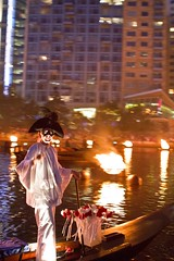 WaterFire Lighting - Gaspee Day - Photo by Michael Ippolito