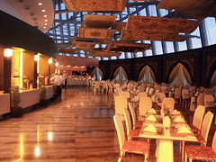 Flying Carpets (Kombizz) Tags: food restaurant hotel flying gulf chairs middleeast torch chef tables carpets arrangement doha qatar persiangulf chefs flyingcarpet poorlighting 5129 persiancarpets flyingcarpets thetorch khalijfars kombizz aspirezone thedohastorch khaleejfars flyingcarpetrestaurant