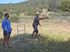ladder golf russ (maureenld) Tags: camping friends game fun 40th bash bruce may db annual russ pinnacles 2012 pinnaclesnationalmonument bethereorbesquare laddergolf desertbash btobs