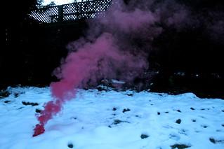 smoke in snow