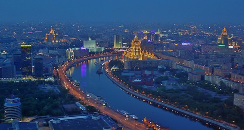 Moscow at night HDR