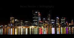 DSC_2791 (Helen Vercoe) Tags: city skyline night reflections lights cityscape colours nightscape australia perth nightsky shimmer perthwa