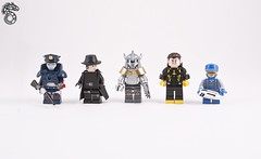 Shadow Brick - Agents and Shadow Runners (Hammerstein NWC) Tags: fighter lego dwarf apocalypse johnson chainsaw elf chrome rpg shotgun fighters custom ammo lonestar cyberpunk shadowrun christo roleplay elven cmf sabr shotty brickarms postapoc streetsamurai shadowbrick chainblade aurimax elveb physicaladept herrshmidt