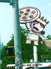 Pizza Man (Lily Patel) Tags: red man cute home cheese austin yummy texas lily sauce south pizza congress slice crown patel mozzarella pepperoni lilypatel8