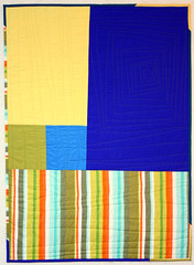 PNN Quilt Back (Mle BB) Tags: blue orange green lines yellow quilt cotton solids quilted improv straight improvised kona episode solid 305 quilty pieced piecing robertkaufman konacotton