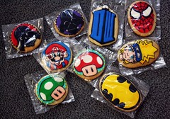 ButterWinks Cookies (brittaney.) Tags: cookies who spiderman springhill mario goods doctor doctorwho darth batman vader darthvader baked butterwinks