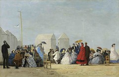 18-PLAYA DE TROUVILLE, BOUDIN (codeconet) Tags: summer beaches bathhouses figures crowds citiestowns