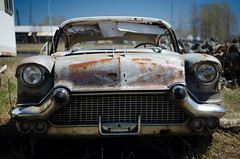 Old Car 2 (x0allie) Tags: old summer car cool rust pretty headlights grill oldcar