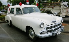 1952 Chevrolet Ambulance (Custom_Cab) Tags: door red 2 canada chevrolet station sedan wagon 1 bc cross conversion 911 columbia canadian ambulance 150 chevy national delivery british paramedics paramedic 1500 1952 210