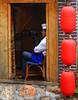 Break (Py All) Tags: china city red kitchen lanterne rouge cuisine restaurant chair asia break cook chef asie lantern 中国 pause yunnan lijiang ville chaise lampion chine 丽江 云南 cuisinier 中国丽江