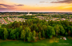 Utby at twilight (aerial tilt-shift) (cablefreak) Tags: above sky night landscape toy town miniature flying sweden bokeh outdoor gothenburg flight quad aerial helicopter ts tiltshift alienskin bokehlicious ecilop quadrocopter multirotor multicopter